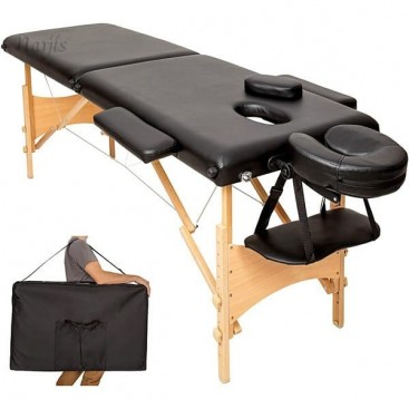 Grossiste en table lit de massage pliante 2 zones en bois - Table en bois noir ...
